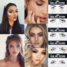 FACE Eye Adhesive Glitter Jewel Tattoo Sticker Festival Rave Party Body Make Up