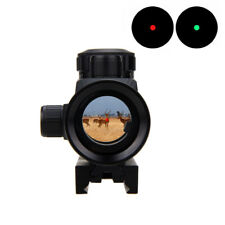 1x40 Red Green Dot Optic Sight Scope Airsoft 11/20mm Rail Air Rifle Pistol Mount