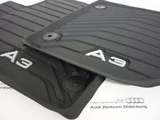 Audi A3 Gummimatten Audi A3 Allwetterfussmatten vorne mit Schriftzug (Modell 8V)