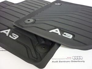 Audi A3 Caoutchouc Allwetterfussmatten Avant avec Lettrage (Modèle 8V)