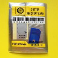 BLUE Micro SIM Card Holder/Adapter/Converter For Apple iPhone 4/4S Simcard UK