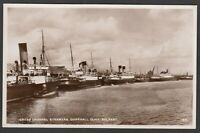 Postcard Belfast Northern Ireland steam ships in Donegall Quay shipping RP