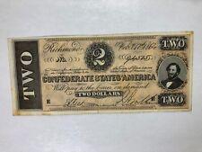 Facsimile 1864  $ 2  Confederate States Of America Banknote