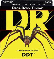 DR DDT5-55 DDT DROP DOWN TUNING BASS STRINGS, HEAVY GAUGE 5's - 55-135