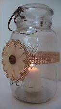 12 Burlap Yellow Daisy Mason Jar Rustic Centerpiece Wedding Party Wraps N27