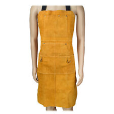 Leather Welding Apron With Multiple Pockets Heavy Duty Tools Shop Work Apron New
