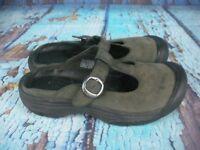 Keen Presidio Black Leather Open Back Mary Jane Shoes Women's Size: 7