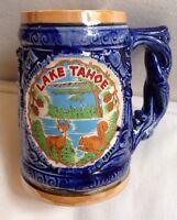 Vintage Lake Tahoe CA Souvenir Mug Stein Made in Japan