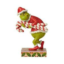 More details for enesco grinch by jim shore grinch stealing christmas candy canes figurine
