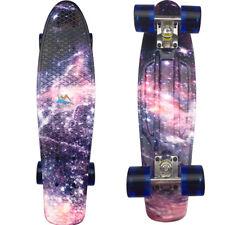 """Retro Cruiser Skateboard Complete 22"""" Board Plastic Galaxy Purple Drift Boards"""