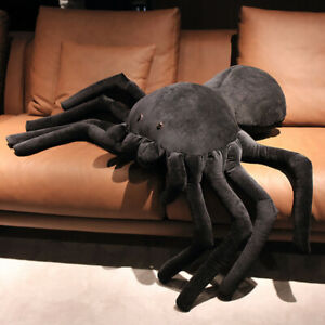 Funny Creative Black Little Spider Doll Plush Toy Soft Stuffed Sleeping Pillow