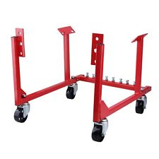 Max Load 1000 lb Auto Engine Cradle Stand Chevrolet Chevy V8 w/Dolly Wheels, RED