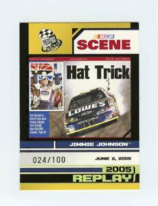 Jimmie Johnson 2006 06 Press Pass Platinum 024/100 Parallel Insert Card #P91