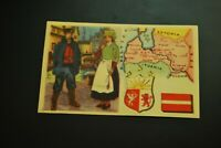 Vintage Cigarettes Card. LATVIA. REGIONS OF THE WORLD COLLECTION