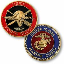 U.S.Marines~FORCE RECON~Jack Of All Trades~Challenge Coin~Silver Dollar Size~/&