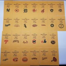 1977 Strat-O-Matic Baseball Printed Storage Envelopes with Stats and Team Logo