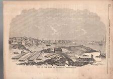 1856 Gleason's original Print - View of Marblehead Massachusetts