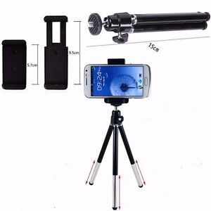 Rotatable Mini Tripod Stand Holder Cradle for Camera Mobile Phone iPhone Samsung