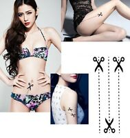 FD3918 Personality Scissor Removable Waterproof Temporary Tattoo Body Stickers