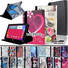"""For Various 7"""" 8"""" LG G Pad Tablet - Folio Stand Leather Cover Case + Stylus"""