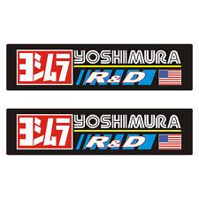 2 Stickers plastifiés YOSHIMURA R&D - 16cm x 4cm
