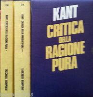 IMMANUEL KANT CRITICA DELLA RAGIONE PURA BOMPIANI 1987 TR. COLLI 2 VV COFANETTO