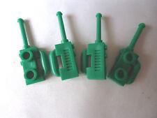 De nouveaux accessoires minifigure # vert walkie-talkies / radios x 4 partie 3962b