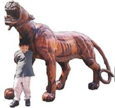 TIGER CARVED WOOD LIFESIZE AMAZING ANIMALS PROPS FILM ADVERT STATUE