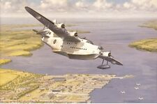 Short Sunderland Flying Boat Aeroplane Aircraft Blank Birthday Fathers Day Card
