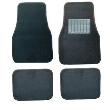 Honda Accord Civic Insight Intergra Black Cloth Carpet Car Mats Full Set of 4