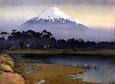 Mt.Fuji Sunrise 15x22 Japanese Print Japan by Yoshida Asian Art Japan sushi
