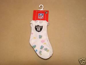 Football Oakland Raiders NFL Kids Socks Size 4-5 1/2 NWT