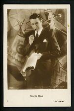 Real photo postcard RPPC Cinema movie star Monte Blue Warner printed Germany