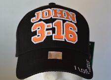 JOHN 3:16 WOODLAND CAP NEW BLACK BASEBALL CAP