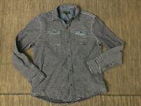Banana Republic Adult Mens XL Button Up Shirt Long Sleeve Stripe Blue Cotton