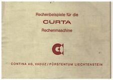 Rechenbeispiele für die CURTA-Rechenmaschine, Original Anleitung in Deutsch