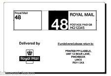 1000 Royal Mail 48 PPI Labels with return address ON ROLL VAT invoice standard