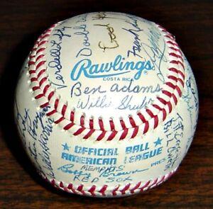 Autographed Baseball: Memphis Red Sox (Negro League): 35 Player Autographs