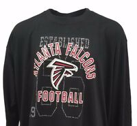 NFL Atlanta Falcons Black Majestic Long Sleeve T-Shirt BIG and Tall Sizes, nwt