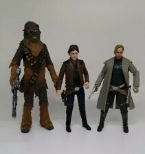 Star Wars Black Series lot Tobias Beckett young Han Solo, and Chewbacca
