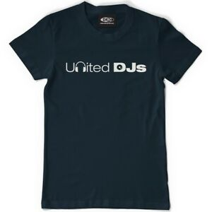 Technics / DMC T-Shirt United Djs - Navy Blue/Blue (Size S-XXL) UDJ1 New+Boxed
