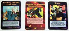 Illuminati New World Order UNRELEASED Cards Headless Chicken, Adv Weapons, Bruno