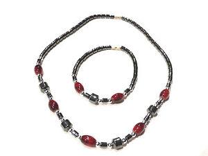 Bijou fermoir alliage doré parure hématite finery necklace and bracelet