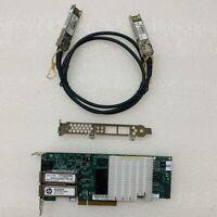 593717-B21 HP NC523SFP 10GB 2 Port Server-Adapter 593742-001 QLE3242 SFP+ Cable
