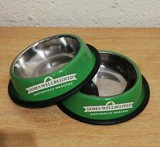 2 Non Slip James Wellbeloved Food Water Bowls Cat Kitten Stainless Steel