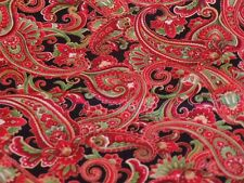 Holiday Red and Gold Paisley Metallic