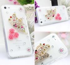 Glitter Luxury Crystal Bling Rhinestone Diamonds hard back Phone Case Cover #1