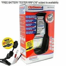 OptiMate 4 Dual Program Battery Charger    **FREE OPTIMATE O120 TESTER RRP £16**
