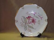 Cico Bavaria Charger-Service Plate-Platter-Germany-Pink Flowers-Gold Trim-CIQ17