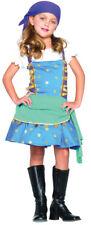 Gypsy Princess Child Girls Costume Head Scarf & Peasant Fancy Dress Leg Avenue